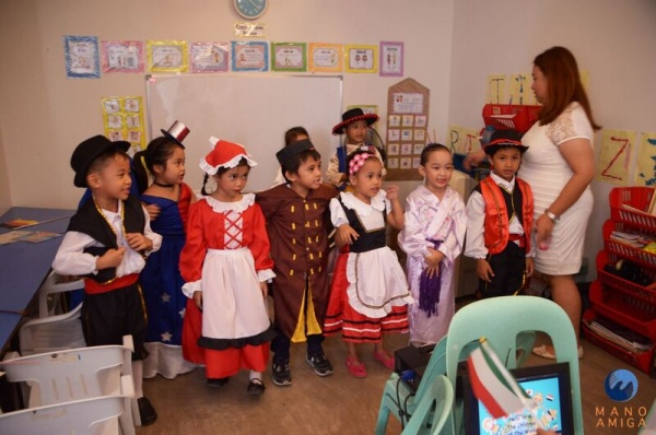 MA Philippines - Kindergarten class dances for their guests
