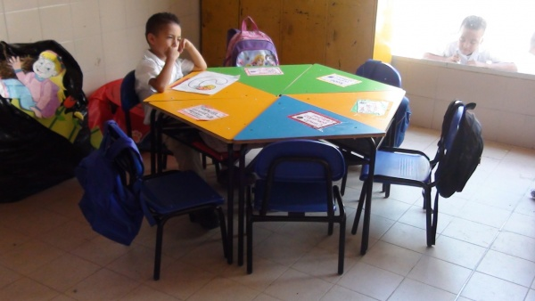 You provided new desks for MA Colombia through your generosity during the Back to School campaign!