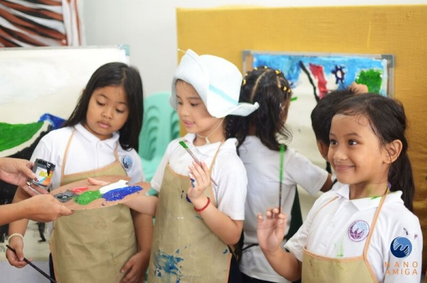 MA Philippines - 1st Grade artists at 2017 Idea Carnival