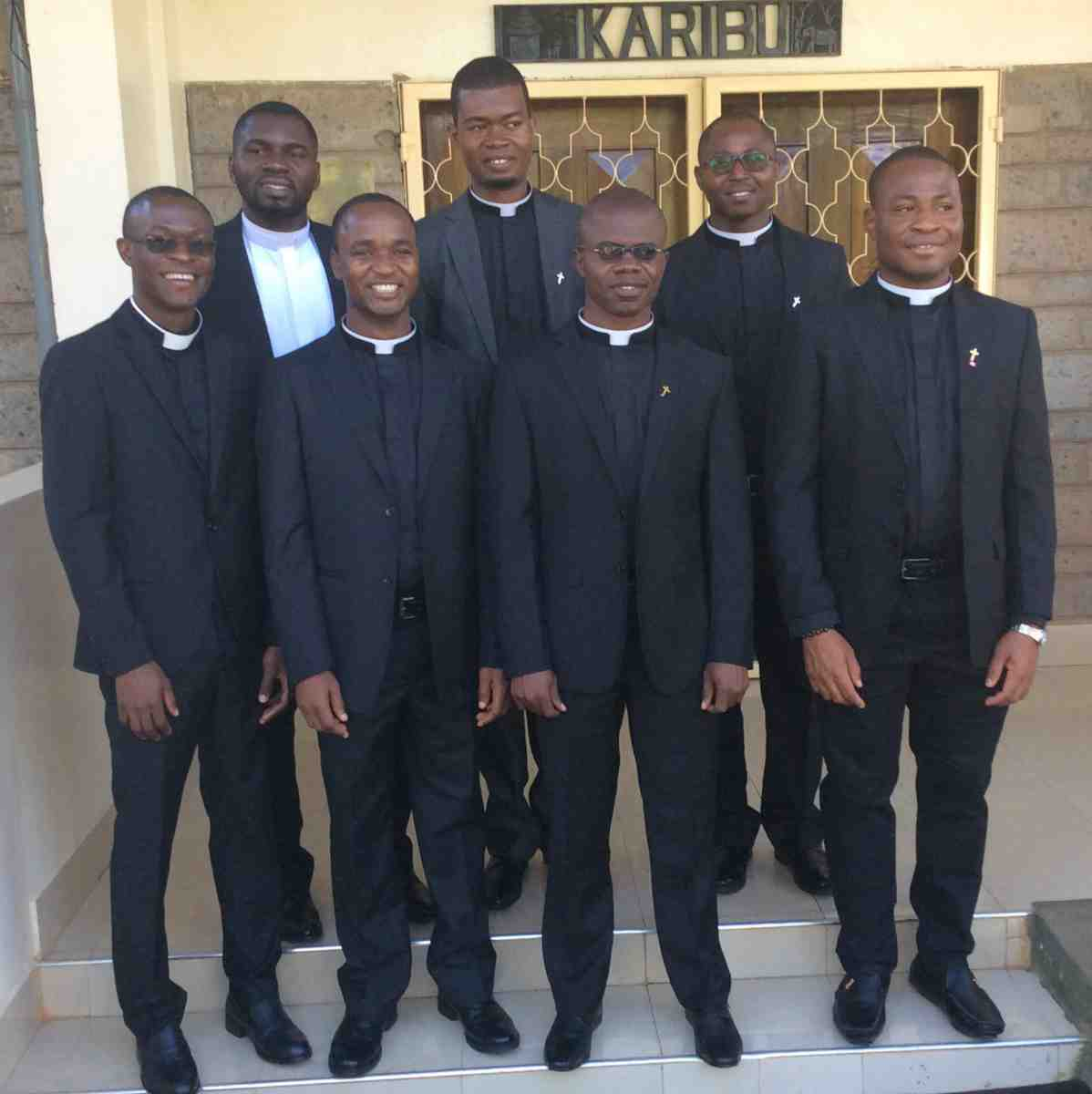 Newly ordained deacons from the Society of African Missions