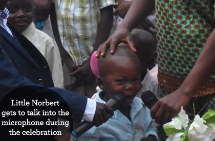 Little Norbert at Ndekesha Orphanage, DR Congo