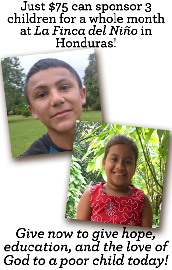$25 can change a child's life in Honduras. Give now.