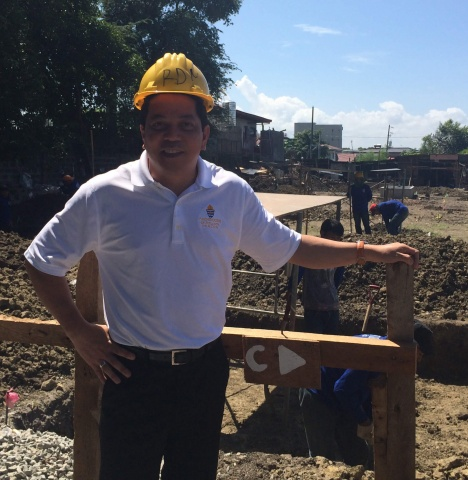 Deacon Rick visits the construction site for the new MA Philippines campus