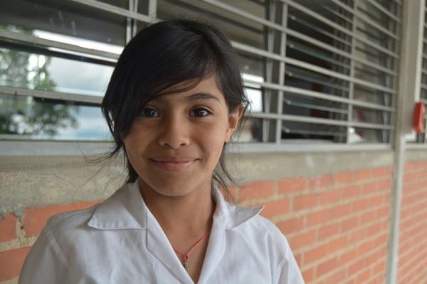 Wilangely, a Mano Amiga Mariches student - Venezuela