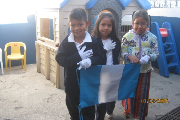 Mano Amiga Guatemala students celebrating their country - Guatemala