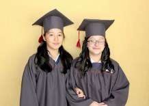 Two girls who are very proud graduates!