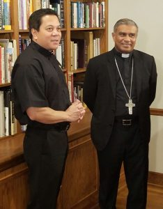 Deacon Rick Medina and Bishop Harry Perera, of Kurunegala, Sri Lanka, in Atlanta - August 2017