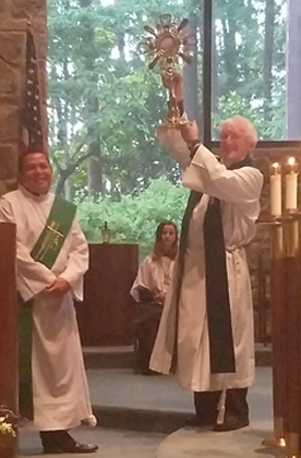 Msgr Marren receives monstrance for All Saints parish
