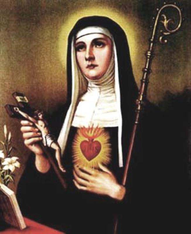 St. Margaret Mary Alacoque was strengthened by her time with the Blessed Sacrament to endure contempt, contradictions, and other struggles during her earthly life.