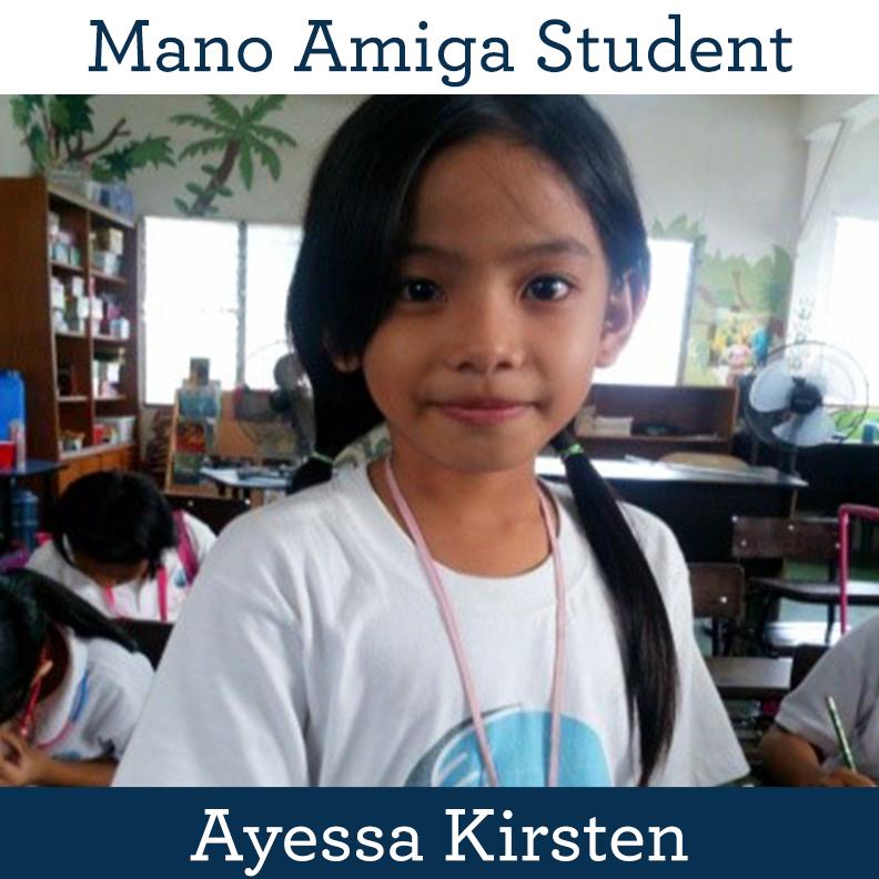 Mano Amiga Student Ayessa Kirsten