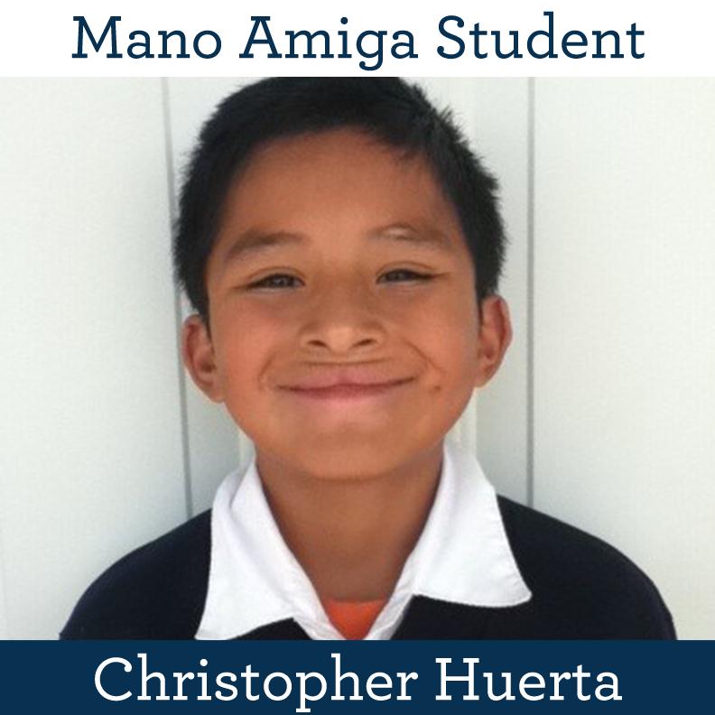 Mano Amiga Student Christopher Huerta