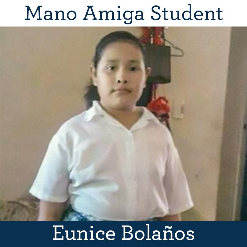 Mano Amiga Student Eunice Bolaños