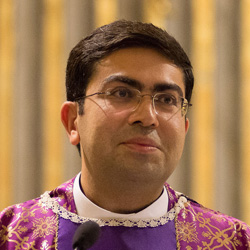Fr. Sameer, 36, was ordained as priest two years ago