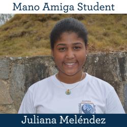 Mano Amiga Student Juliana Meléndez