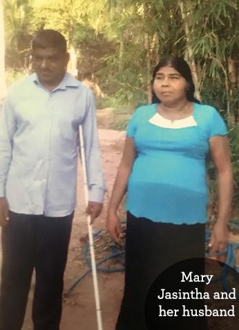 Blind man in Sri Lanka