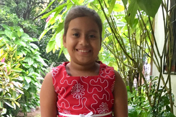 Julia, 6, is one of the children you can directly help this Lent!