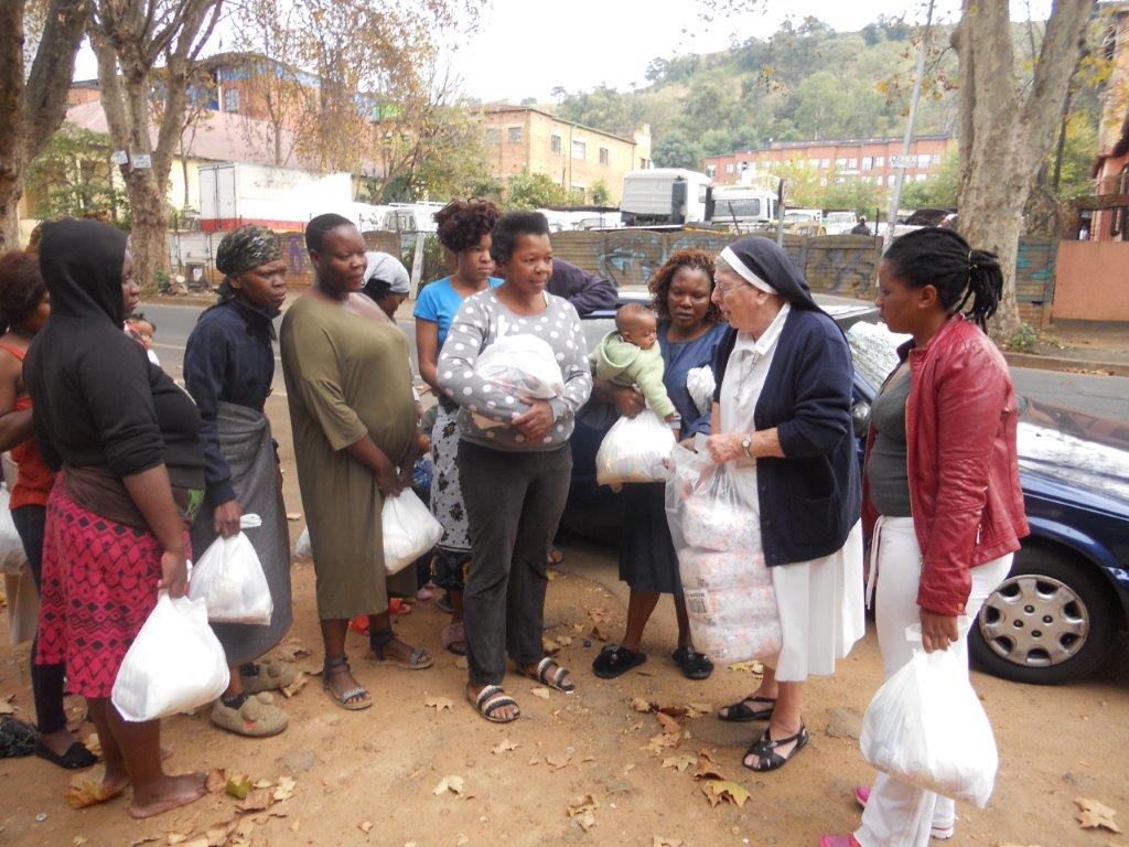 Sisters of Nazareth performing outreach to the poor of Johannesburg, South Africa