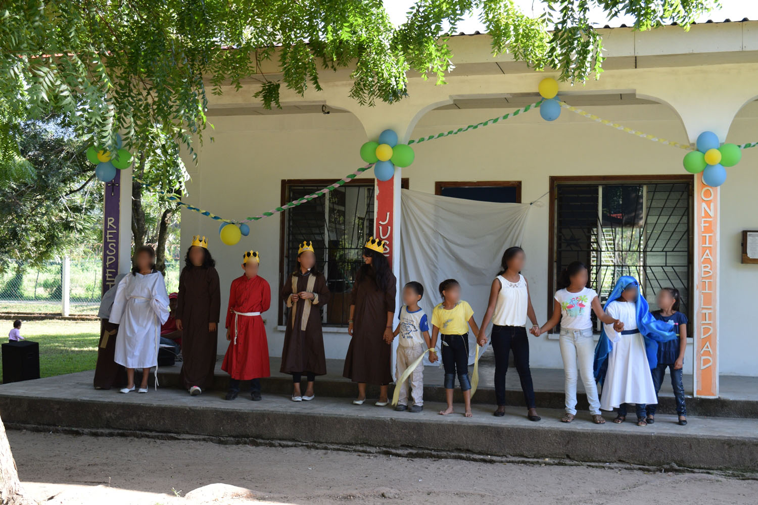 Welcome ceremony - Farm of the Child - Honduras