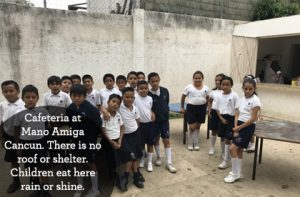 The cafeteria at Mano Amiga Cancun currently has no roof or tables. Help us build a shelter for the cafeteria so the children can have some protection from the hot sun and rain!