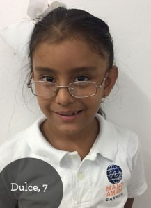 Dulce, 7, loves unicorns and wants to be a vet when she grows up.