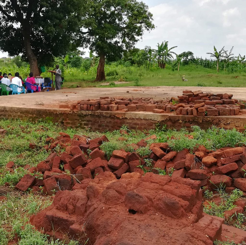 Villagers came together to build 25,000 bricks to build a church. Rain destroyed the bricks before they could be cured.