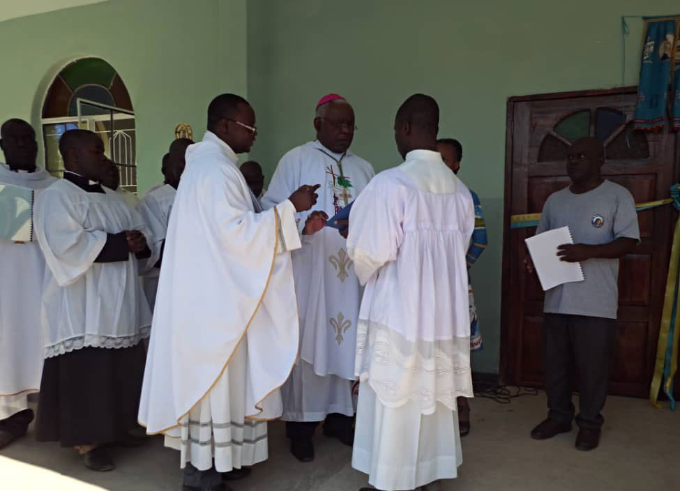 Bishop on hand to bless and dedicate the new church building