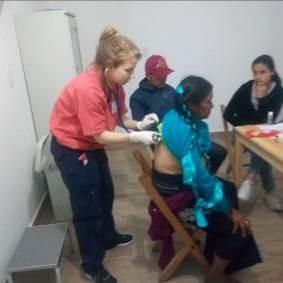 Medical exam at San Andres Larrainzar