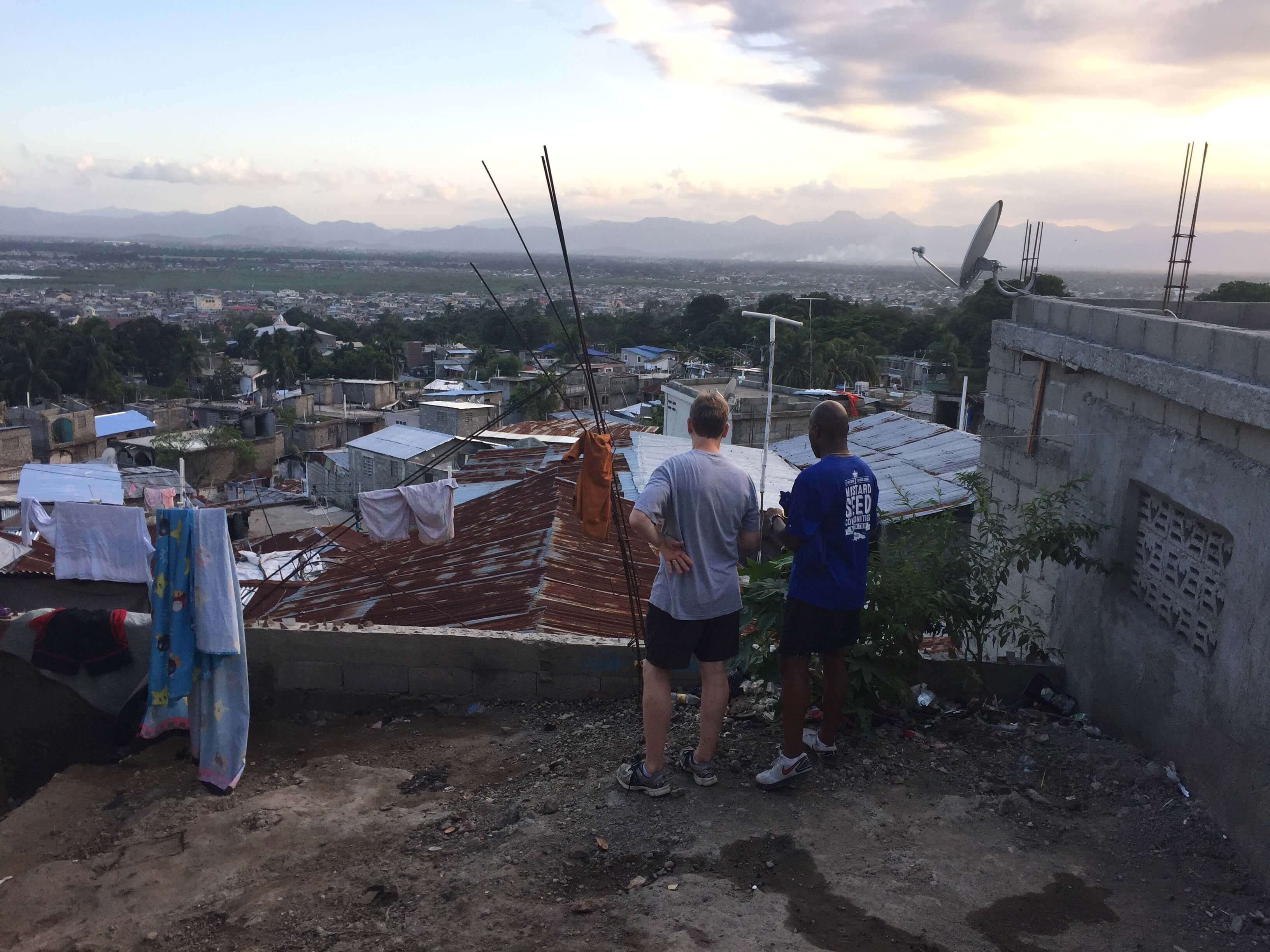 Praying over Cap-Haitien
