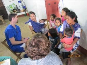 Seeing moms and babies at San Juan Cancuc