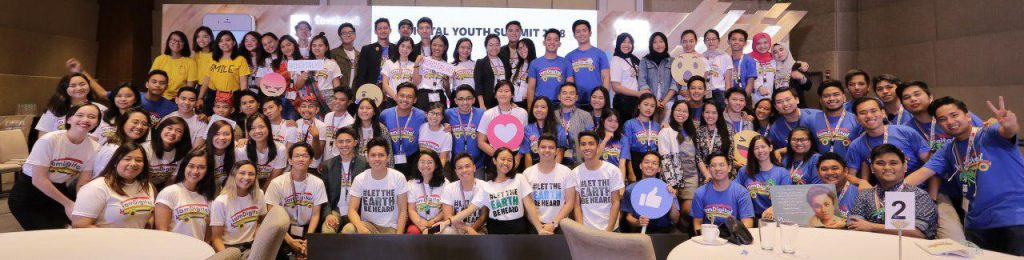 Students gather at the #iamdigital Youth Summit in the Philippines, October 2018