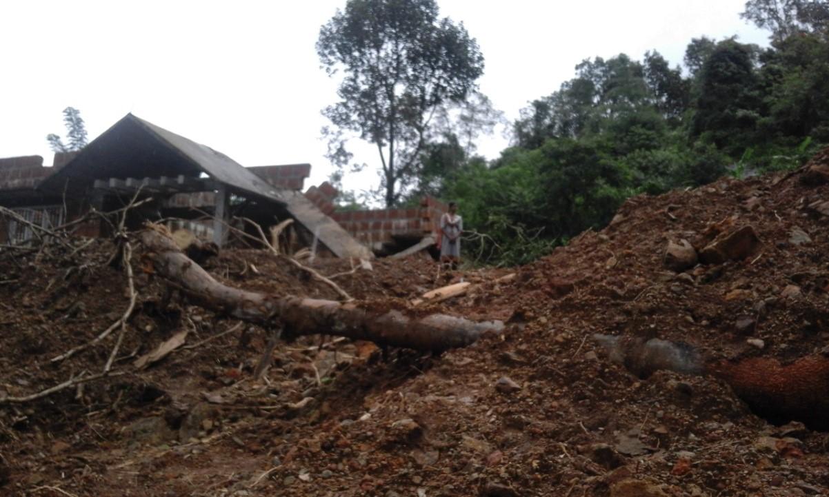 Flood damage in India