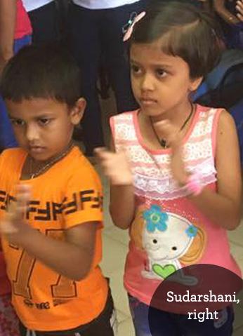 Sick children in Sri Lanka