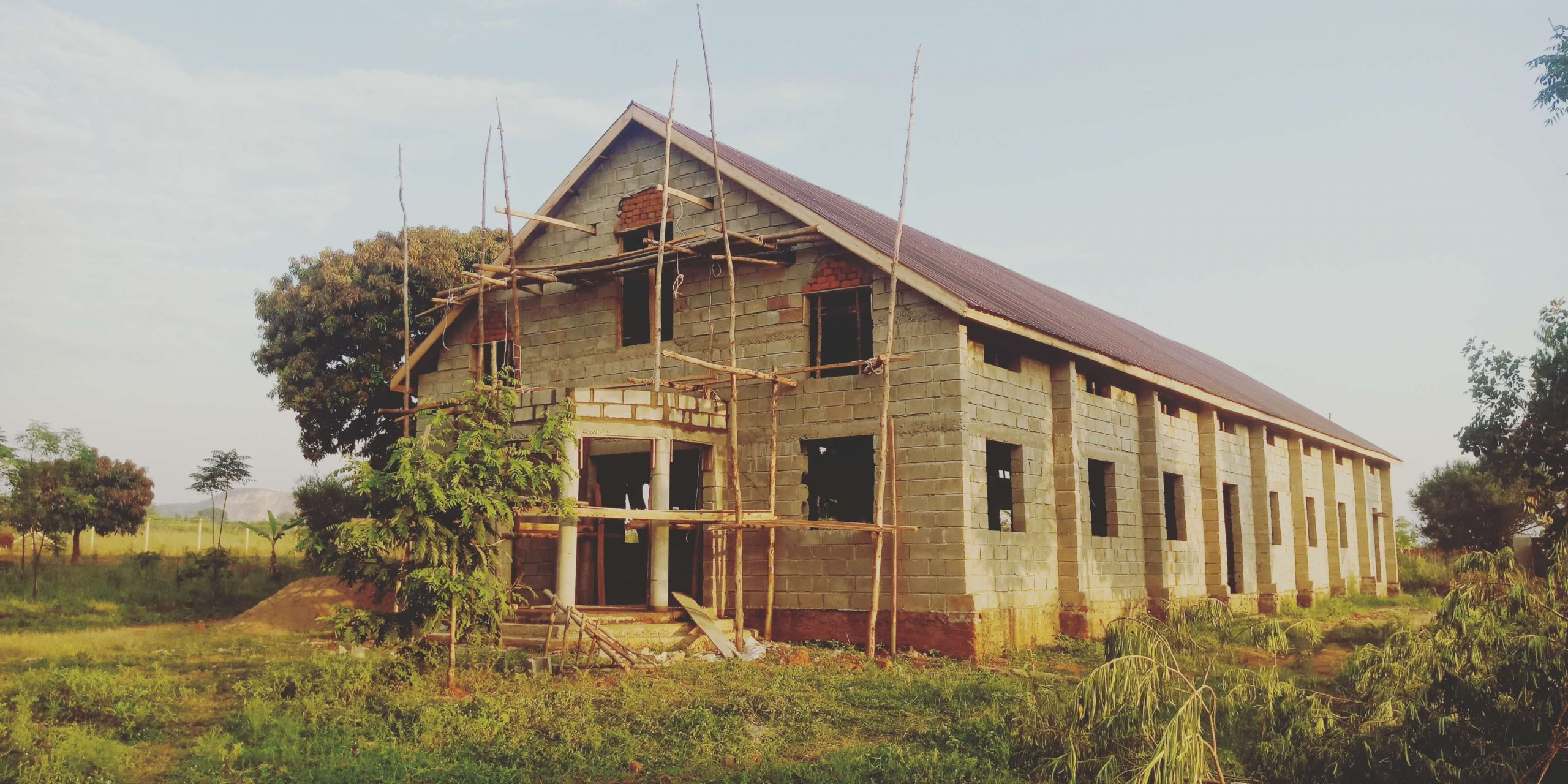 Uganda Church - Another view of the new roof
