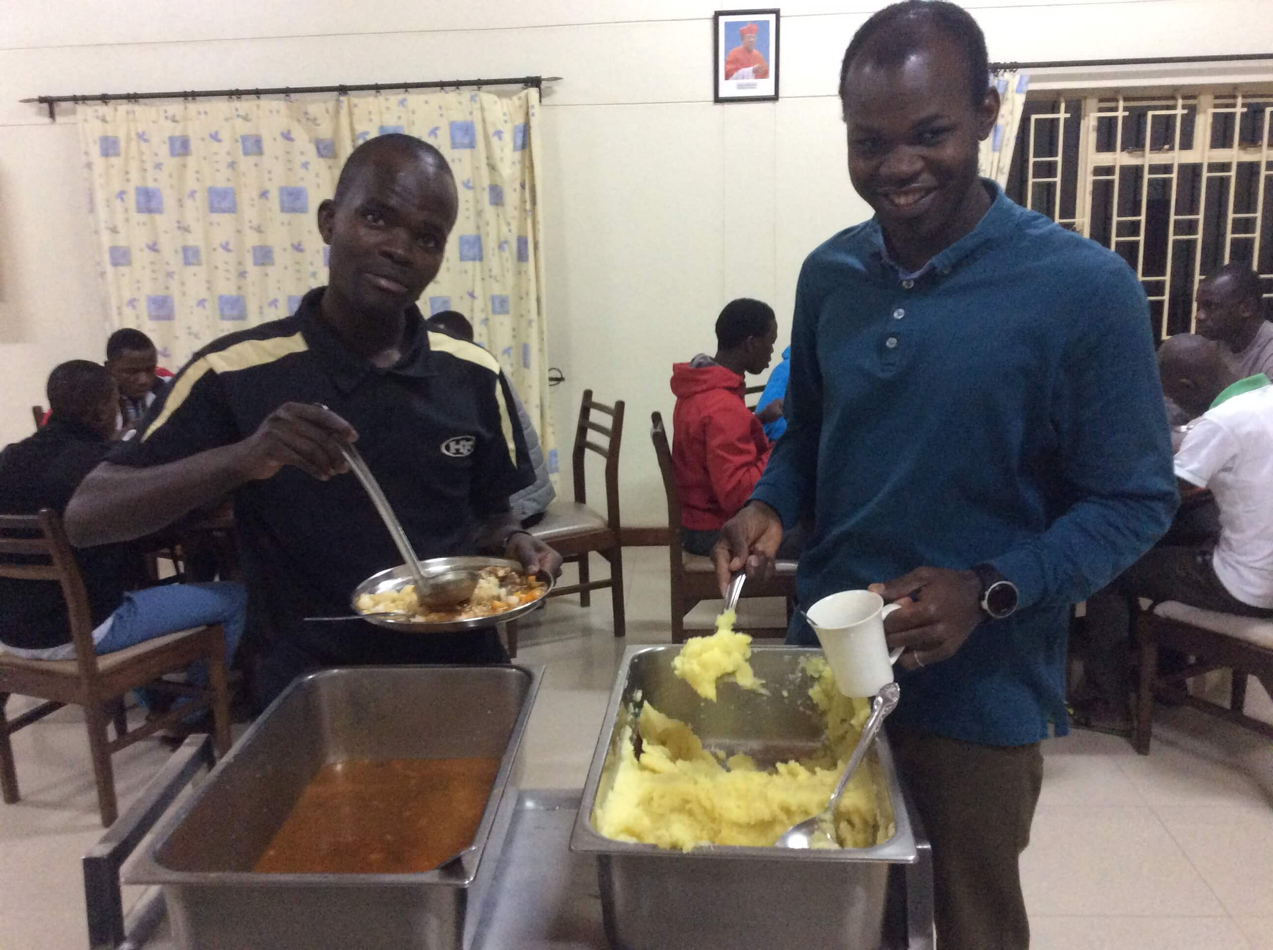 SMA Seminarians - At Dinner, December 2019