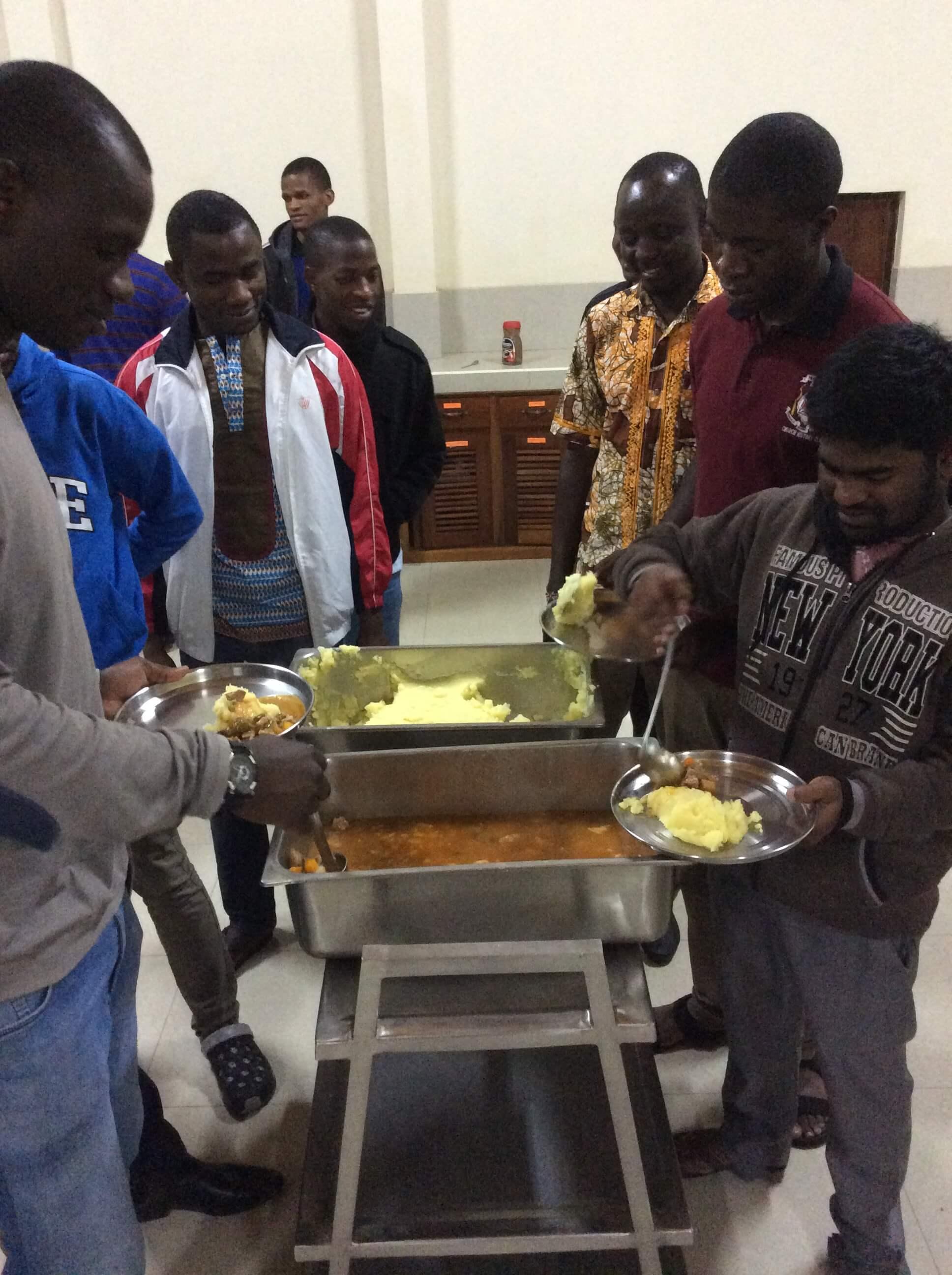 SMA Seminarians at mealtime