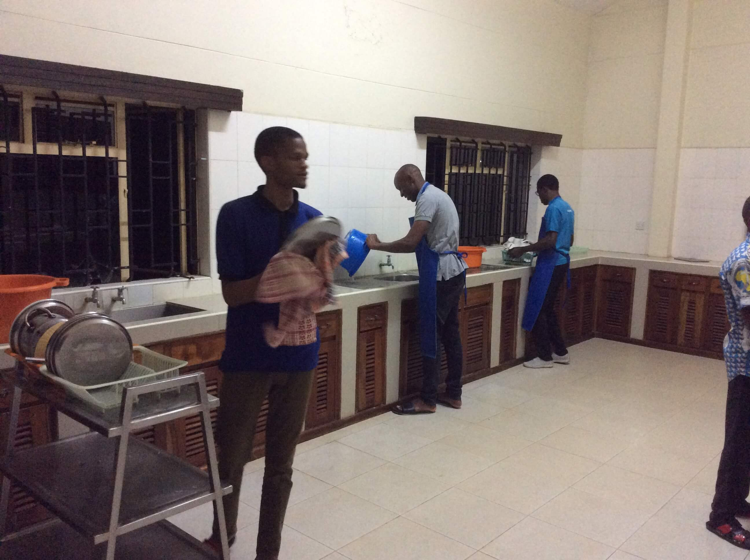 SMA Seminarians doing chores