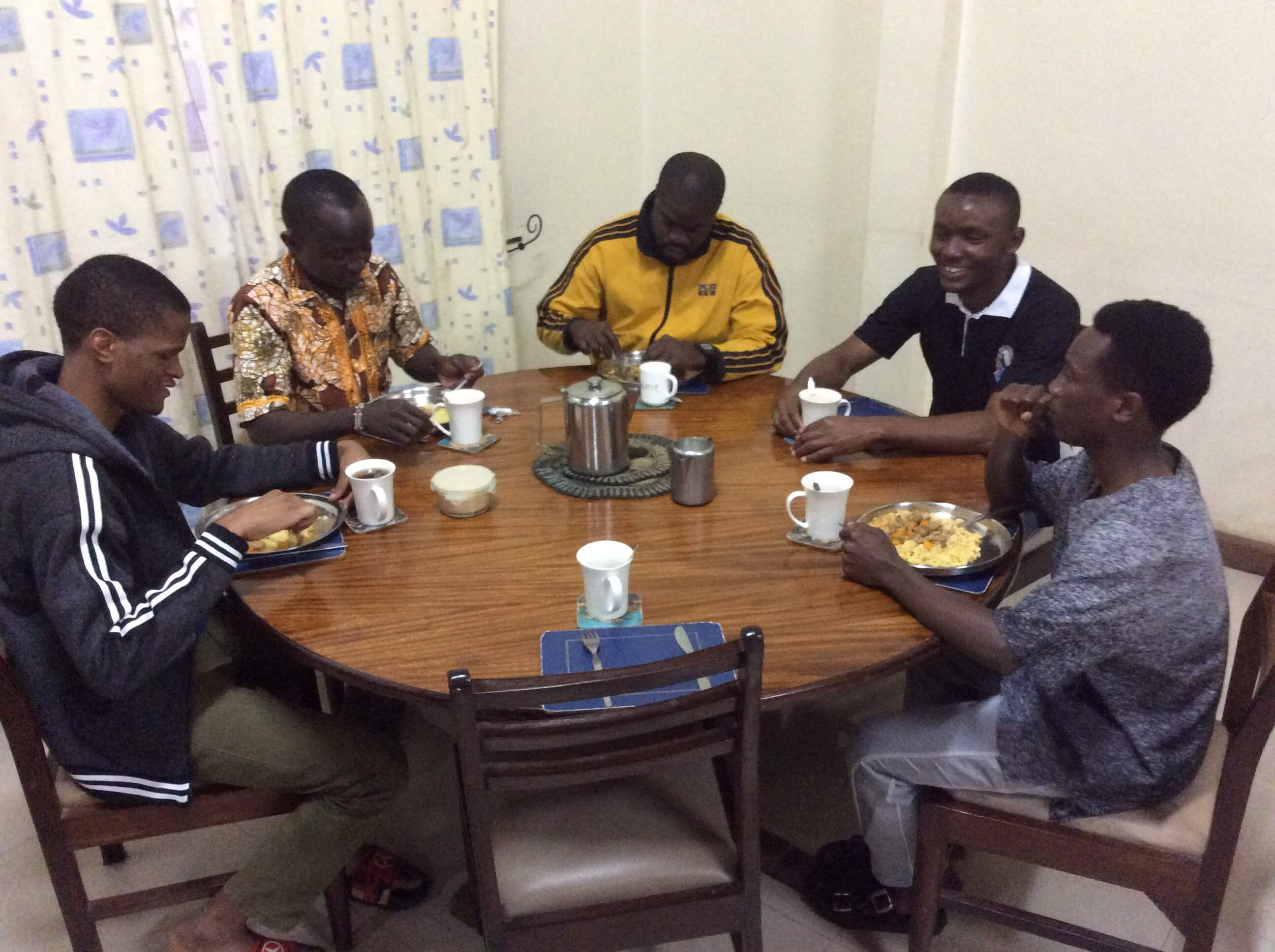 SMA Seminarians take their meal together