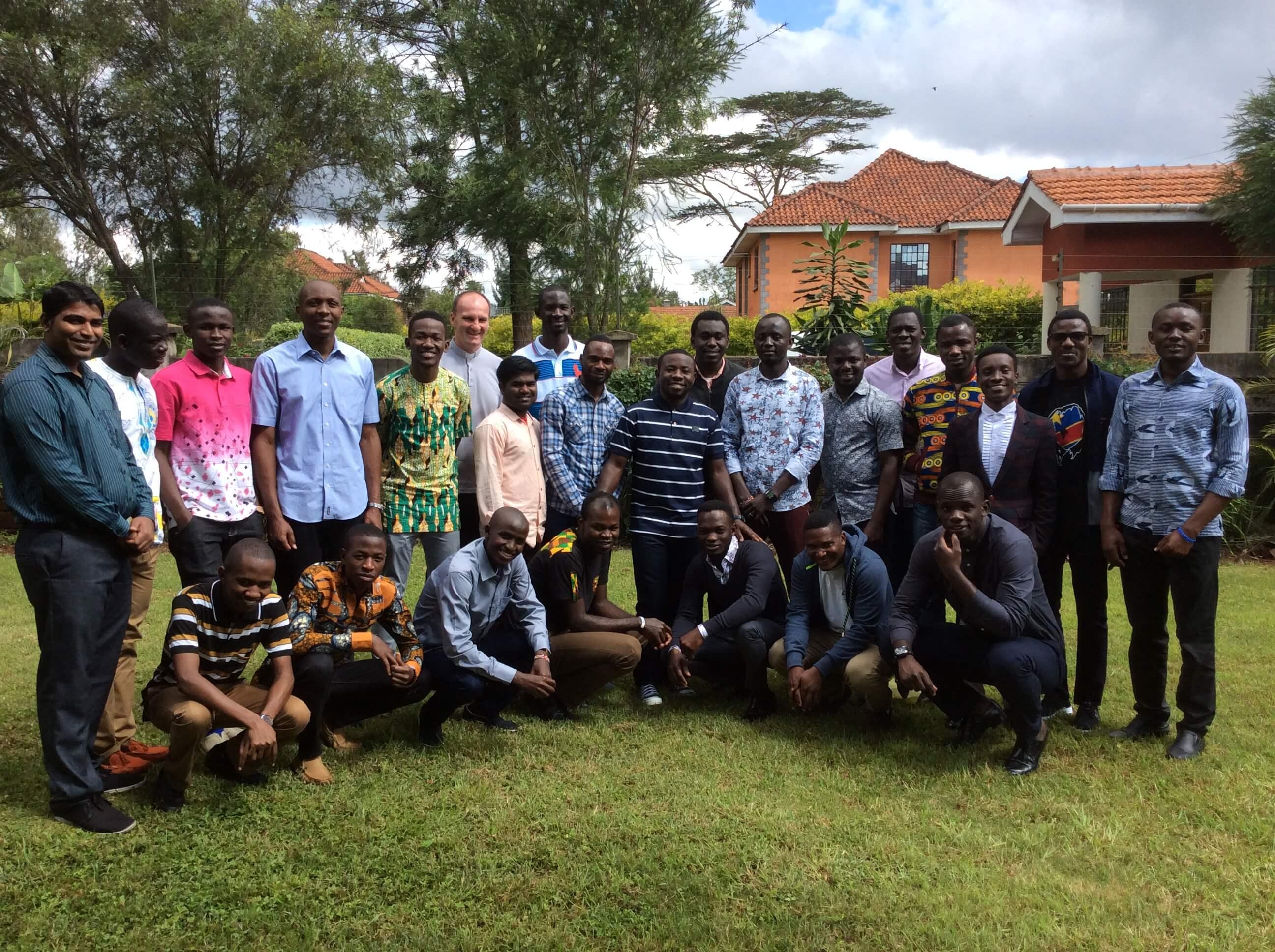 SMA seminarians studying in Nairobi, Kenya - large group photo
