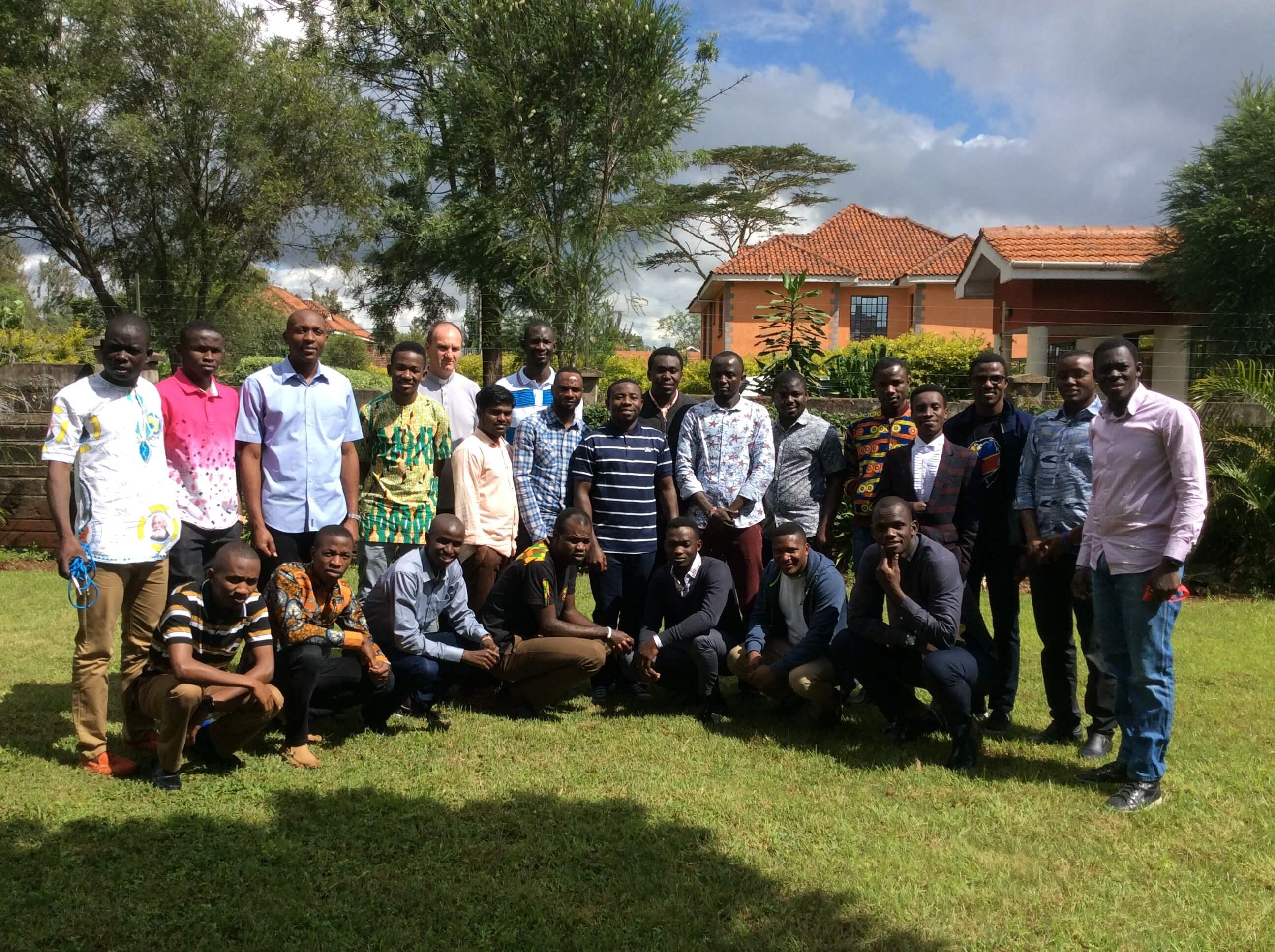 SMA seminarians studying in Nairobi, Kenya take in some sunshine