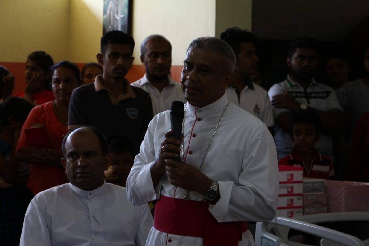 Bishop Perera attends the Christmas celebration for the sick children in Sri Lanka