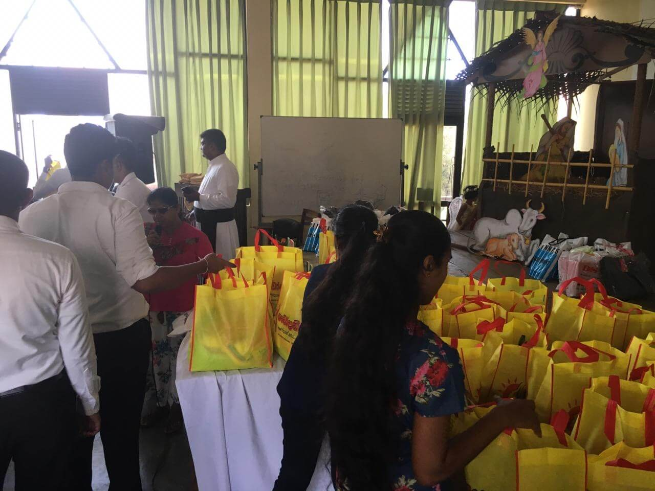 Dry ration packs of essential food provided for families with blind adults - Christmas 2019 - Sri Lanka