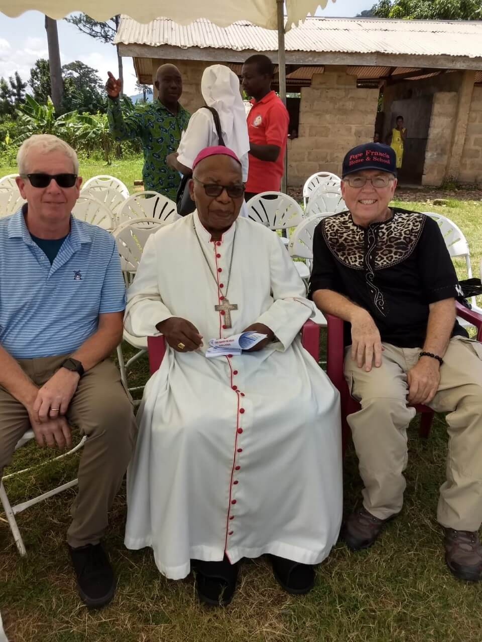 Ghana - Pope Francis Home - Bishop Lodonu at the ribbon cutting ceremony