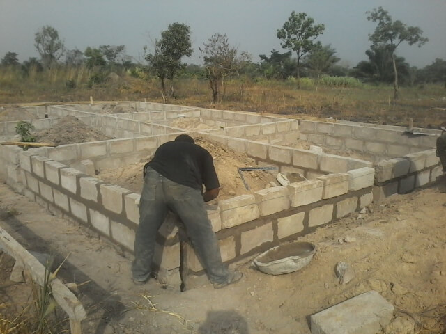 Ghana - Pope Francis Home - Dining Pavilion in progress