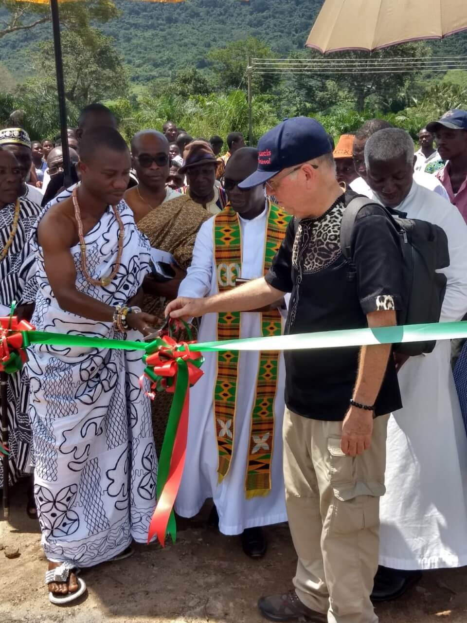 Ghana - Pope Francis Home - ribbon cutting ceremony