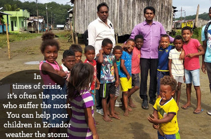 In times of crisis, it's often the poor who suffer the most. You can help poor children in Ecuador weather the storm caused by COVID-19.