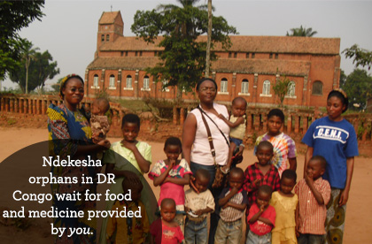 You can send food to the Ndekesha orphans in DR Congo today.