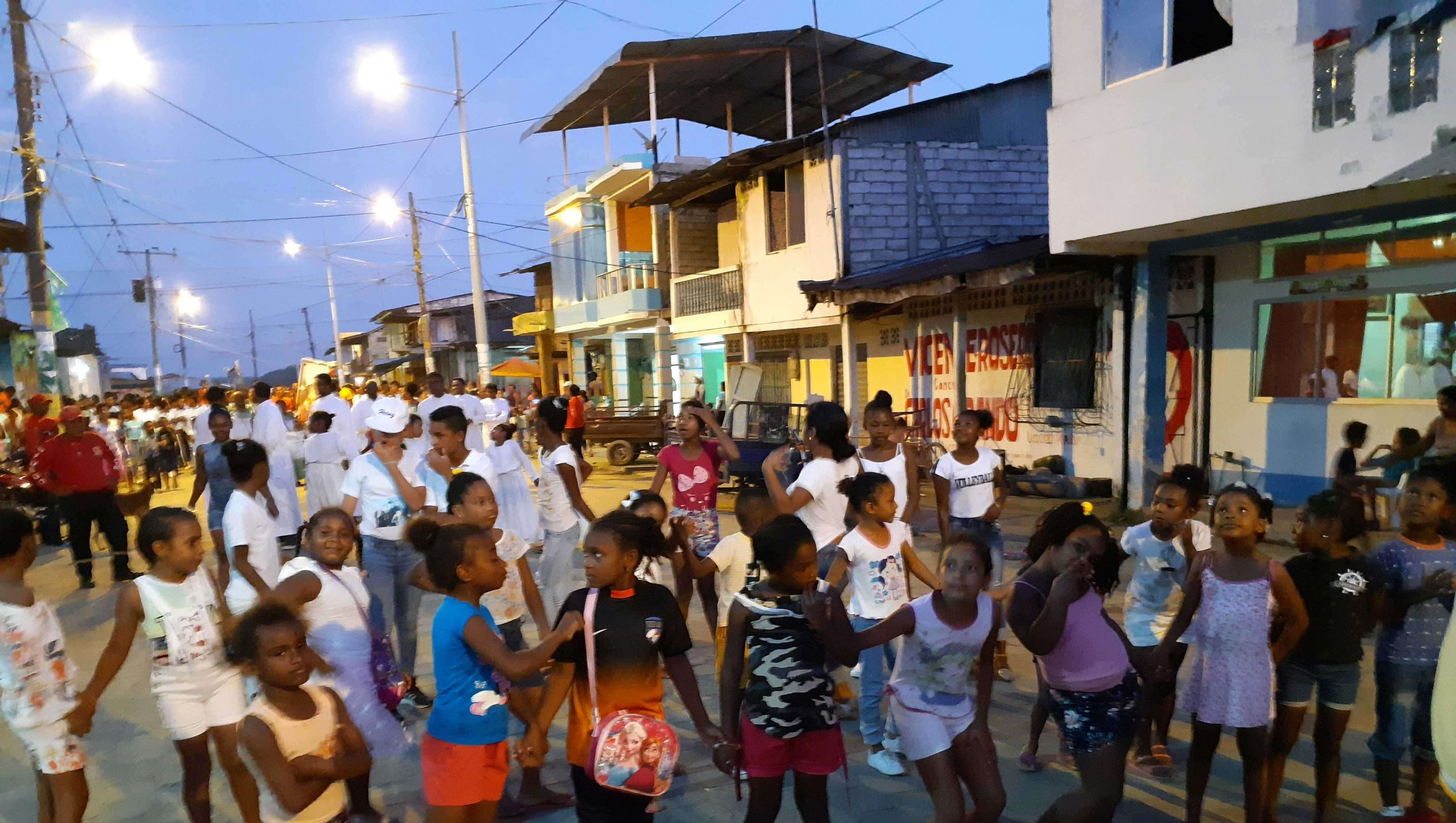 Night gathering of children