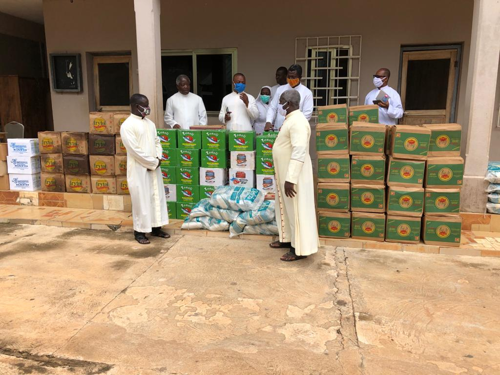 7. Msgr. Simon also makes sure local priests and nuns have plenty of food and supplies.