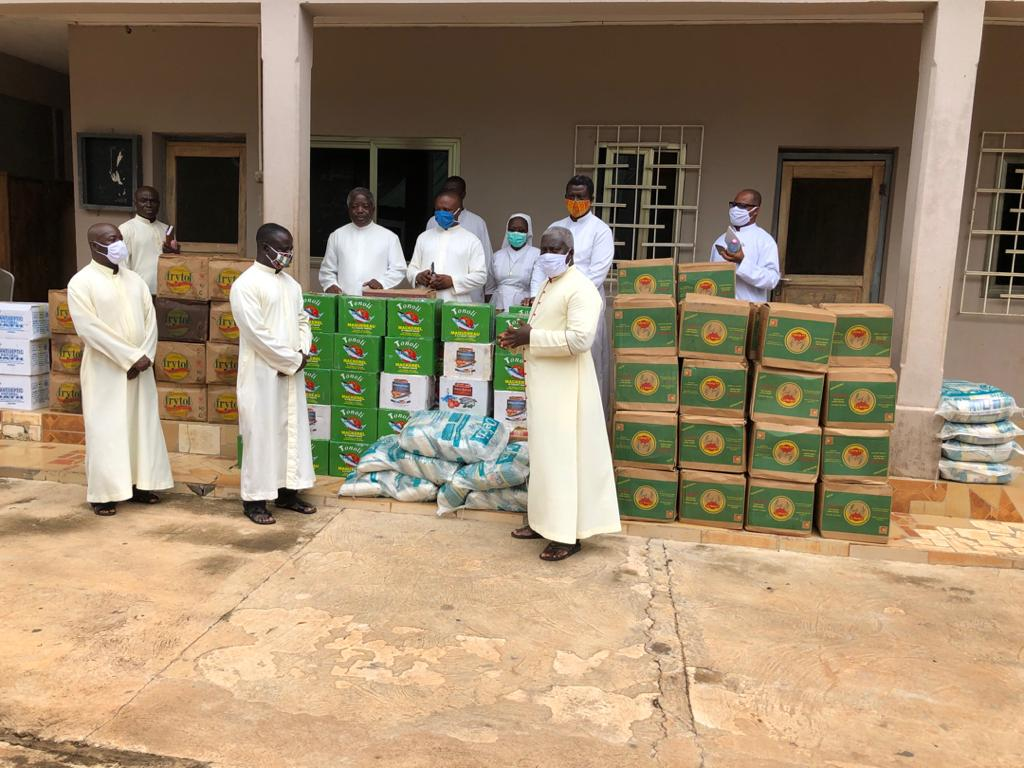 8. Because Masses have been canceled, and collections are not being taken up any more, priests and nuns are not able to buy food. Msgr. Simon is distributing rations for them.