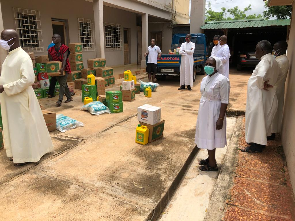 9. Rations for priests and nuns include rice, oil, and canned fish.